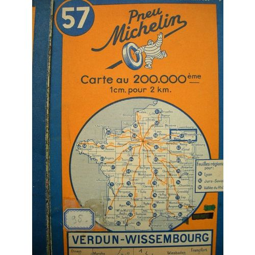 Carte Michelin N 57 6 Verdun Wissembourg Rakuten