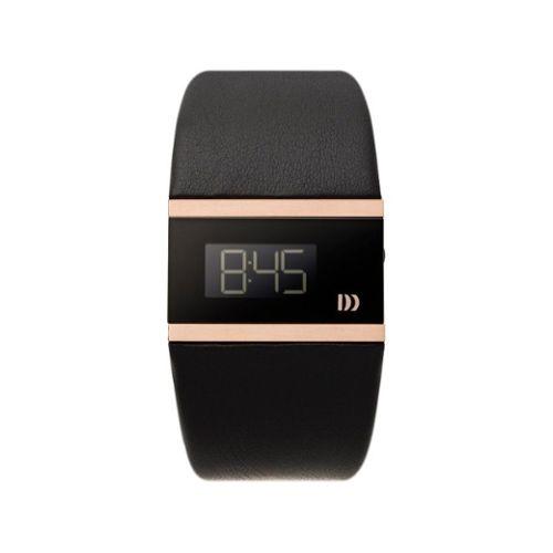 Danish Design 3324298 Montre Femme Quartz Digitale Date Bracelet cuir noir
