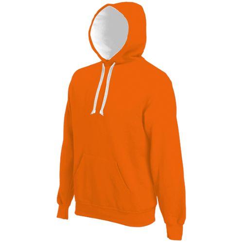 orange homme sweat capuche contraste pas cher ou d'occasion