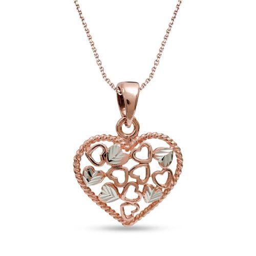 Argent Sterling 925 petit cœur rouge amour collier pendentif pour femmes