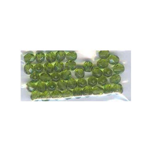 50 Perles Facettes en cristal de boheme 4mm ALEXANDRITE AB