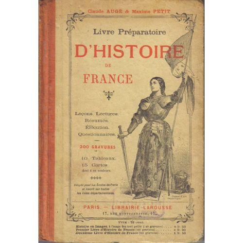 Livre Preparatoire D Histoire De France Rakuten