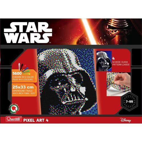 Star Wars 4 Tableaux Pixel Art Dark Vador 5600 Boutons