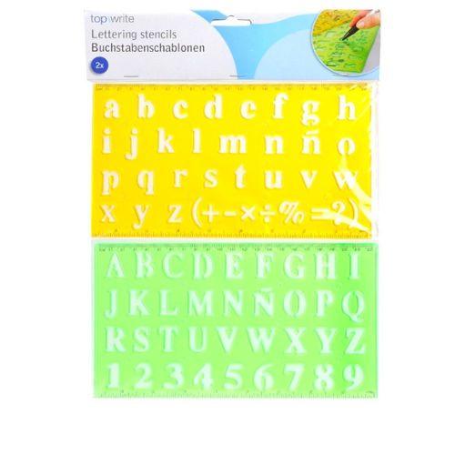 Bonum 936832 Set de pochoirs Lettres de A /à Z en majuscules