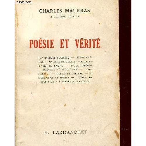Poesie Et Verite Jean Jacques Rousseau André Chénier