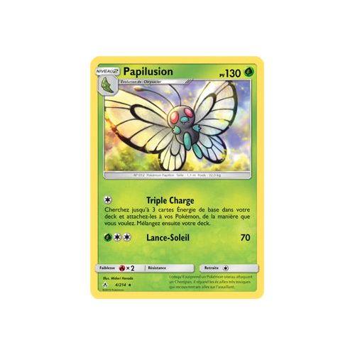 Carte Pokemon PAPILUSION 4//214 Rare Reverse Soleil et Lune 10 SL10 FR NEUF