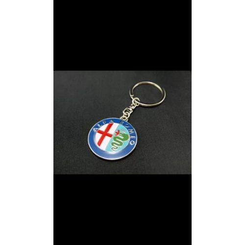 G/én/érique Lot de 4 Bouchons de valves avec Logo et Porte cl/é Italie Chrom/é