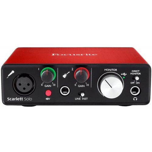 carte son pas cher Interface audio Scarlett Solo 2nd Gen   carte son | Rakuten