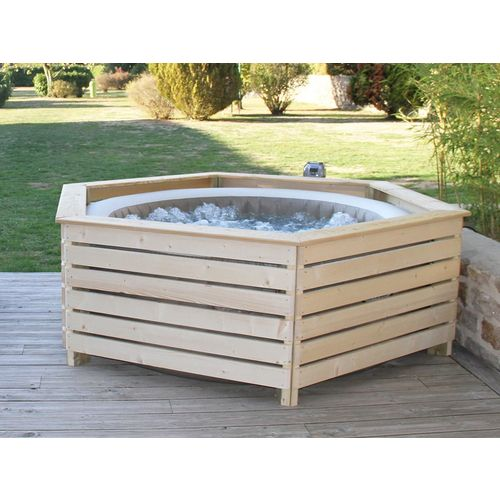 Habillage En Bois Spa Gonflable Intex Aquazendo Rakuten