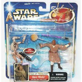 """dans sa boîte Star Wars Black Series Mace Windu 6/"""" Action Figure WOW! En parfait état livraison gratuite"""