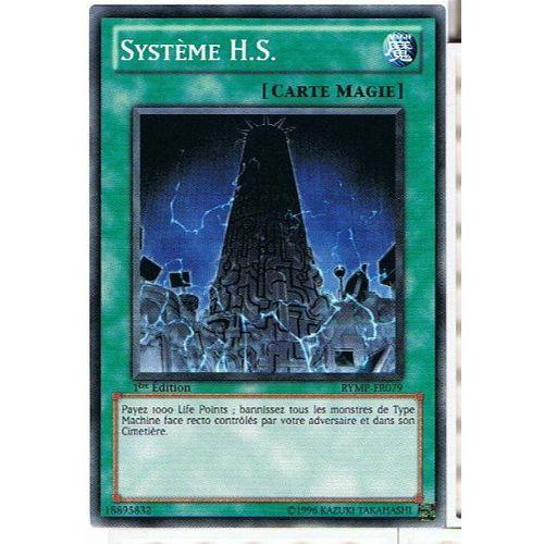 OCCASION Carte Yu Gi Oh SYSTEME H.S RYMP-FR079