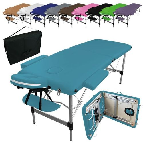 Vivezen Table De Massage Pliante 2 Zones En Aluminium 43