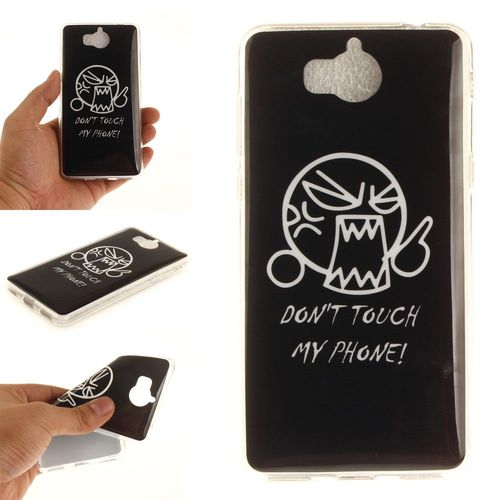 coque huawei y6 2017 don't touch my phone