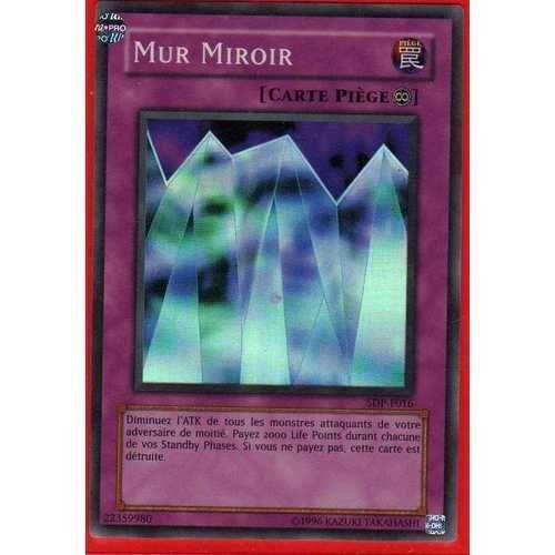 Carte Yu Gi Oh Piege.Yu Gi Oh Mur Miroir Sdp F016 Super Rare Carte Piege Continu