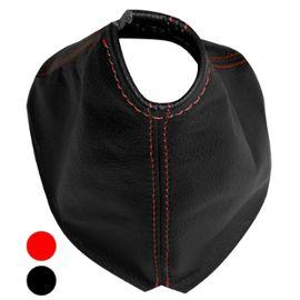 Soufflet levier de vitesse en 100/% CUIR v/éritable avec coutures//surpiq/ûres rouges Aerzetix