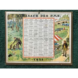 Calendrier 1951.Almanach Postes Et Telegraphes Ptt Calendrier 1951