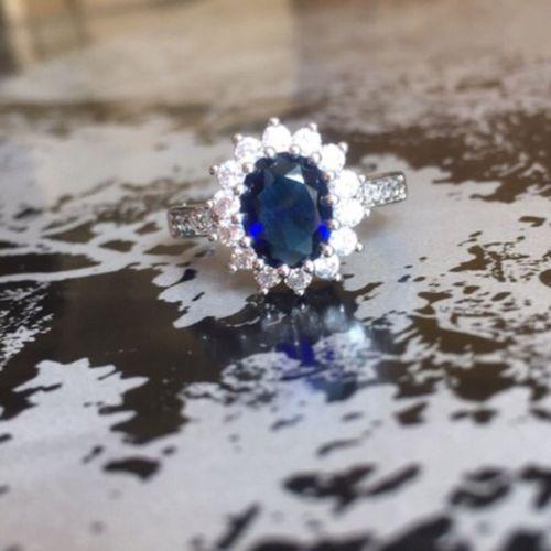 Remarquable Bague Saphir Bleu ? | Rakuten JS-57