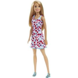 Barbie Chic Blonde Robe Fleurie Rose Et Blanche Rakuten