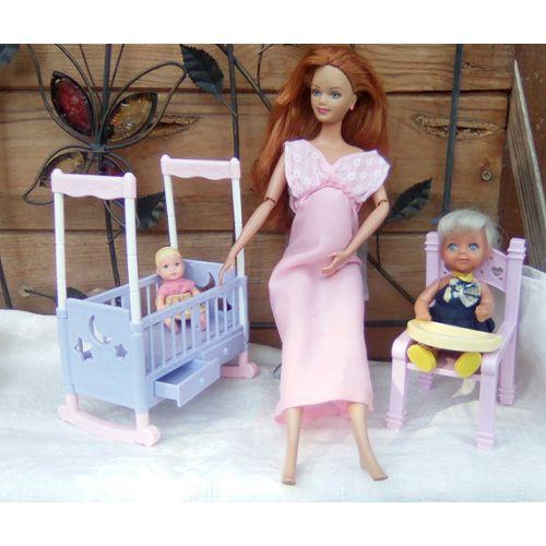 amazon purchase cheap speical offer Barbie Happy Family 2002/2003 enceinte modèle MIDGE avec bébés et  Accessoires