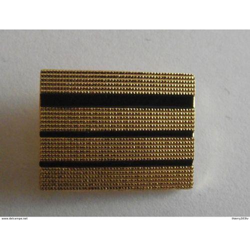 Paire de grades métalliques dorés  Adjudant  adjudant chef  5,8 cm