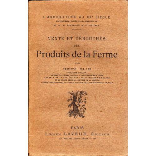 Vente Et Debouches Des Produits De La Ferme Rakuten