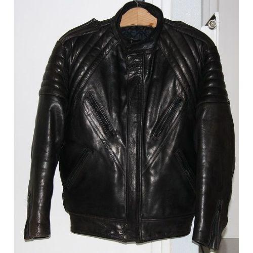 Bikers Blouson Veste Moto Cuir Custom Motard Vetements Superbe Neuf noir XL