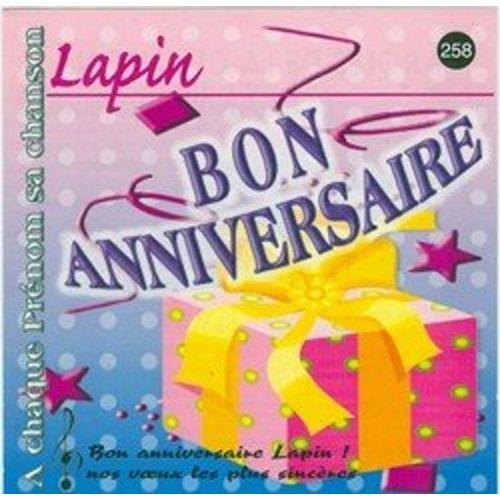 Bon Anniversaire Lapin