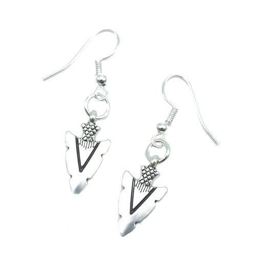 Sterling Silver Heart Dangle Boucles d/'oreilles avec Coeur Charms