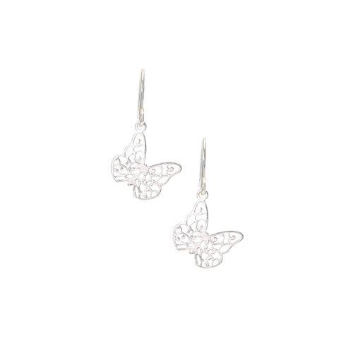 Promotion de ventes Chaussures de skate la vente de chaussures Boucles d'oreilles pendantes papillon en filigrane en argent 925 millièmes  - Claire's