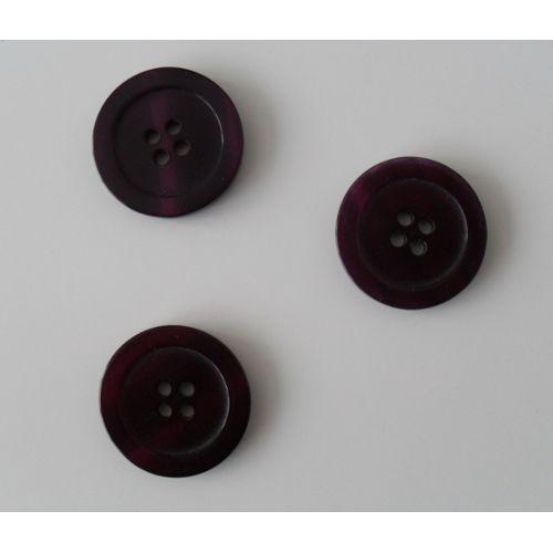 30 x violet à pois 2 trous en Bois 18mm Couture Boutons Artisanat etc.,