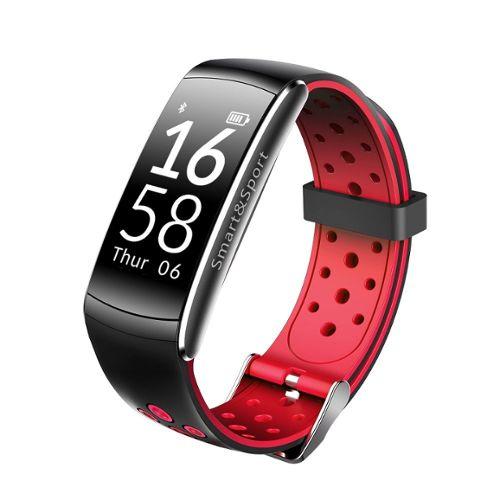 magasiner pour le luxe amazon vente usa en ligne Bracelet connecté Q8 IP68 Moniteur de fréquence cardiaque Surveillance de  santé IOS Android Rouge