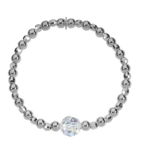 Martelé Star Bracelet breloque en argent sterling et en cuir