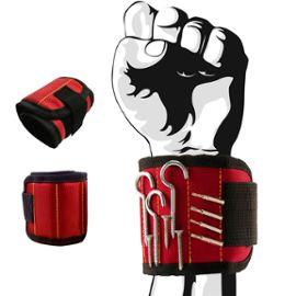 Noir femmes Best Tool cadeau pour bricoleur Handyman Bracelet magn/étique avec des aimants forts pour les vis de maintien clous tr/épans de forage hommes