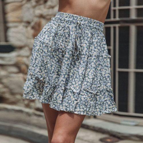 Punk Rave Black Denim volant-Mini-jupe avec lacets gothique Mini Valance skirt