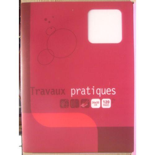 Cahier De Travaux Pratiques 120 Pages Grands Carreaux Seyes Dessin 24 X 32 Cm Couverture Plastifiée Rouge