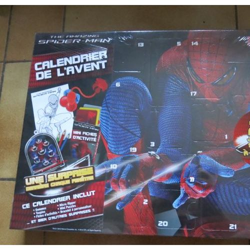 Calendrier De L Avent Spiderman.Calendrier Avent Spiderman Rakuten