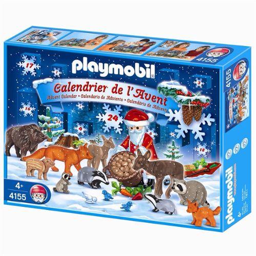 Calendrier De L Avent Playmobil Pas Cher.Playmobil 4155 Calendrier De L Avent Noel En Foret