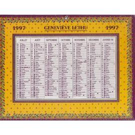 CALENDRIER GENEVIEVE LETHU 1997   Calendrier | Rakuten   Raincy