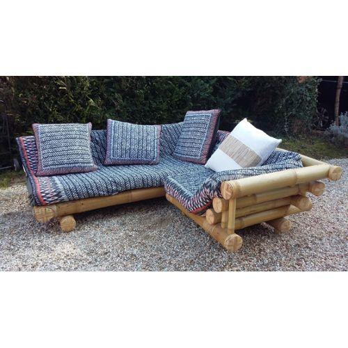 canapé d\'angle en bambou