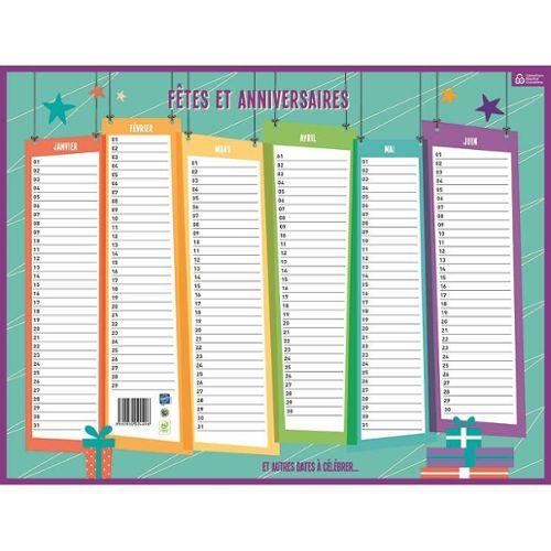 Calendrier Perpetuel Anniversaires.Carpentras Sign Calendrier Perpetuel Fetes Et Anniversaires 32 X 42 Cm