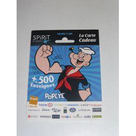 Carte Cadeau Spirit Popeye Objets A Collectionner Rakuten