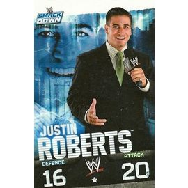 CARTE DE CATCH SLAM ATTAX SMACK DOWN JUSTIN ROBERTS