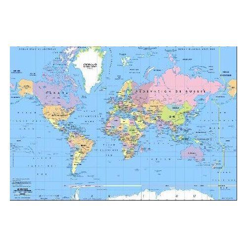 Carte Du Monde Sous Main Avec Pays Et Capitales Imprimés Dimension 40 X 60 Cm Impression 2008