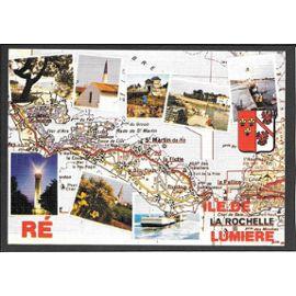 Carte Géographique Illustrée De Lile De Ré Charente Maritime