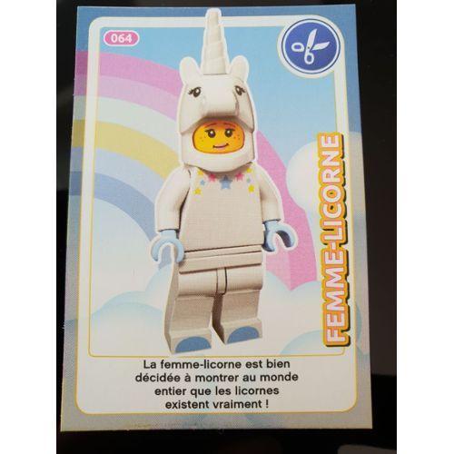 Carte Lego Auchan Livre.Carte Lego Auchan 2018 N 64 Femme Licorne