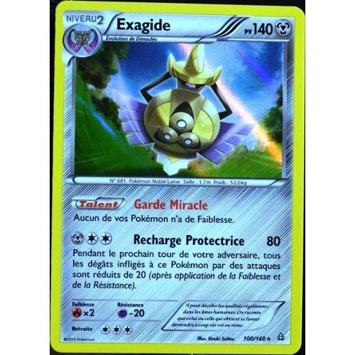 Carte Pokemon TCG Rare Holo FR 100//160 Exagide 140pv