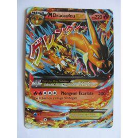 carte pokemon dracaufeu ex Carte Pokémon Mega Dracaufeu Ex Carte Géante   Rakuten