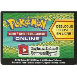 Carte Pokemon Online Debloque 1 Booster De 10 Cartes Supplementaires En Ligne Avec Le Code Au Recto De La Carte Rakuten