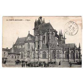 Carte postale ancienne Animée Voyagée, La Ferté-Bernard, l'église. 72 Sarthe   Rakuten