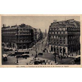 Carte Postale Ancienne France Paris 75 Carrefour De La Rue De La Paix Et De Lavenue De Lopéra